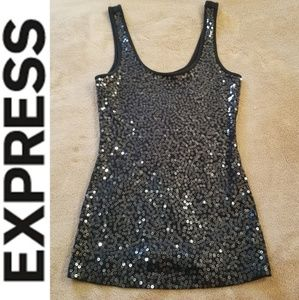 Black Sparkle Tank ll Express